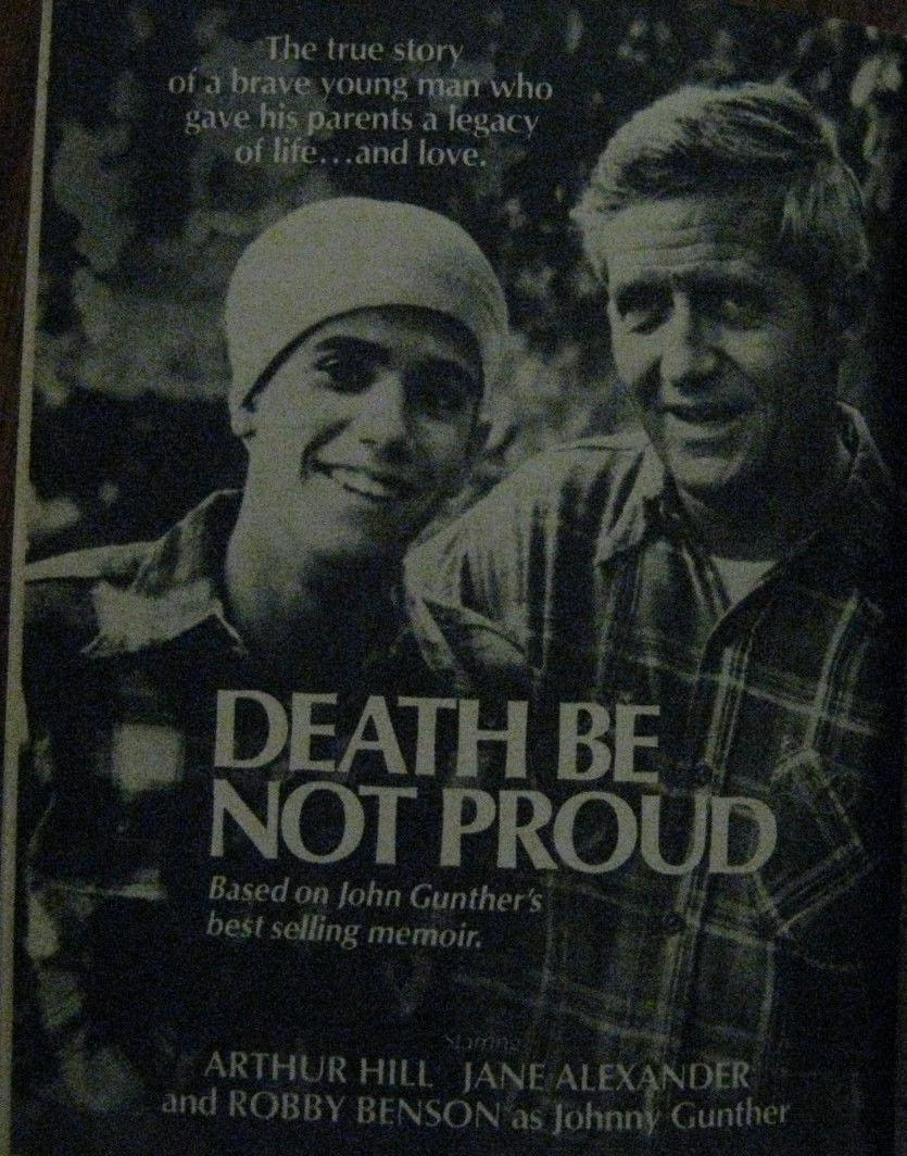 the struggle to stay alive in death be not proud by john gunther Death be not proud by john gunther to make johnny come alive for us as readers  a primitive to-the-death struggle of reason against violence.