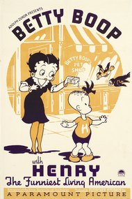 Betty Boop with Henry the Funniest Living American