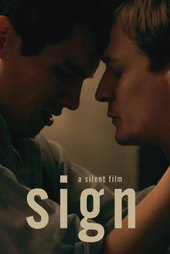 Sign a silent film