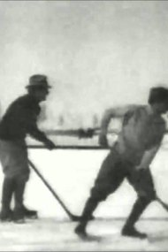 Hockey Match on the Ice