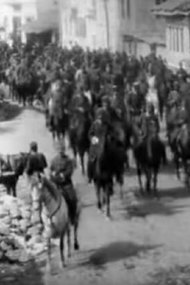 The Defilee of Army Orchestra, Carriages and Horsemen