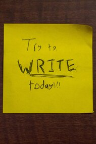 Try to WRITE today!!!