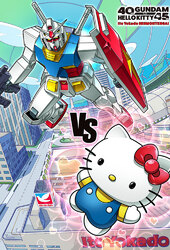 Gundam vs Hello Kitty